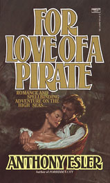 Ellen Michaels on the romance novel book cover For Love of A Pirate