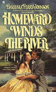 Ellen Michaels on the romance novel book cover Homeward Winds The River